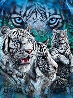 Find White Tigers Tiger fleece blanket  throw NEW