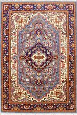 Handmade Blue Carpet Indian Hand Knotted Area Rug Oriental 4'X6' Persian Carpet