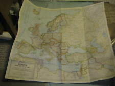 VINTAGE EUROPE AND THE NEAR EAST MAP June 1949 National Geographic
