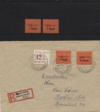 Spremberg 15-16A ungebraucht + auf R-Brief nach Berlin mit 15 II geprüft(B07360)