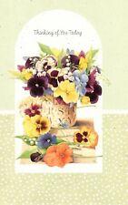 Marjolein Bastin Purple Pansy Pansies Thinking Of You Hallmark Greeting Card