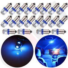 20Pcs Ultra Blue BA9S 5SMD LED Dome/Map/Door Light Bulb 12V 3886X 1895 1895 6253