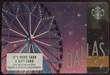 RARE 2018 Starbucks Ferris Wheel DALLAS, Texas  Gift Card