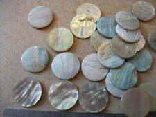 6  15 mm diameter Cream Abalone Button Blanks  - Inlay