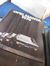 Opel Manta 1974 delux brochure