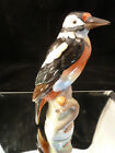 """Vintage 9"""" Herend Hungary NATURAL Long Tail Bird Figurine"""