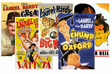 Laurel e Hardy - Set of 5 - A4 POSTER STAMPE #1