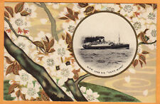 Japan Advertising Postcard NYK Line SS Taiyo Maru Ship