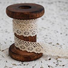 Cotton Venise Guipure Trim-FIORI DA GIARDINO-CREMA-larghezza 1.7cm - CL06
