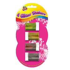 GLITTER SHAKER POTS CHILDRENS ART and CRAFTS CARDS SPARKLE SCHOOL/HOMEx 4PK 6089