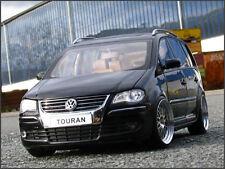 1:18 tuning VW Touran 1t TDI-schwarzmettalic-con BBS Leemans alu-llantas