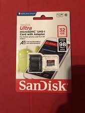 Nuevo SanDisk Ultra 32 GB Micro SD Tarjeta de memoria SDHC 98MB clase 10 Con Adaptador Sd
