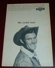 1966 WJW TV AD~CHUCK CONNERS THE RIFLEMAN OR RYEFUL MAN TELEVISION WESTERN