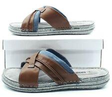 Sandales Nu pieds Tongs Mules Chaussure Homme - Reste 45 et 46 Marron Gris Bleu