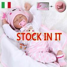 "22"" Vinile Reborn Doll Lifelike Baby Doll Vinyl Kids playmate Bambole rinascere"