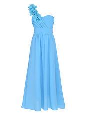 Vestido Largo Elegante de Flores para Niña Vestido de Gala Boda Princesa Fiestas