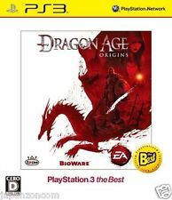 Used PS3 Dragon Age Origins Best SONY PLAYSTATION 3 JAPAN JAPANESE IMPORT
