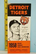 1958 Detroit Tigers Baseball Spring Training Player Roster Schedule #RS123 T-30