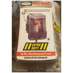 TayMac MM420C Single Gang Non-Metallic Weatherproof In-Use Cover, Single Pack