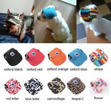 Pet Dog Travel Baseball Cap Puppy Outdoor Sports Sun Hat Summer Canvas Visor Us