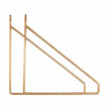 Set of 2 Glossy Brass Shelf Brackets Supports by House Doctor