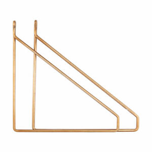 Set of 2 Glossy Brass Shelf Brackets Supports by House Doctor