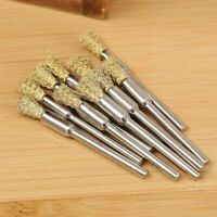 5PCS Mini Wire Brush Brushes Brass Cup Wheel for Grinder or Drill 3x5MM Set G4H9