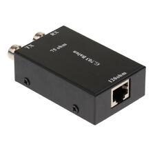 Adaptateur de convertisseur Ethernet BNC Coax to RJ45 Baluns vidéo pour