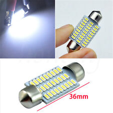 10 Pcs 36MM 27 SMD 3014 White LED Car Dome Interior Light Festoon Bulbs Lamp