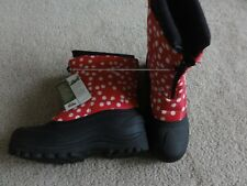 Itasca Size youth 6 Girls Pink Black and white Polka Dot Boots Snow fit women 7