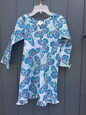 BNWT Designer BLINK BEACH girl retro festival butterfly TUNIC DRESS/TOP 8-9y NEW