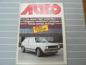 AUTOVISIE 1977 NR 16 TEST VW VOLKSWAGEN GTI,OPEL,HUNT,WATSON,SUNBEAM,ESCORT,343