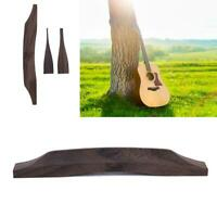 Guitar Rosewood Bridge Set for Jazz Guitar Musical Instrument Replacement Parts