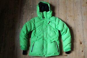 Volcom Thermonite Womens Small Green Down Puffer Hooded Ski Snowboard Jacket