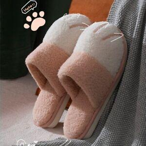 Men Winter Warm House Women Fur Slippers Bedroom Shoes Slides Fluffy Slip On