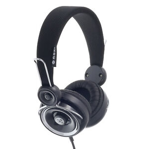 Moki Drops 40mm Wired 3.5mm Over Ear Headphones for iPhone/Samsung Phones Black