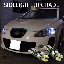 SEAT LEON SIDELIGHT LED UPGRADE T10 501 ERROR FREE CANBUS SUPER BRIGHT 8 SMD