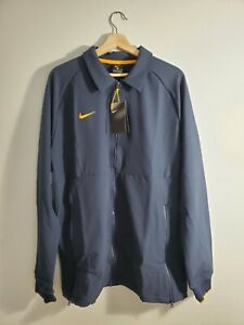 Nike Therma Full Zip Midweight Men's Jacket, Collegiate Navy-Gold, Size L, NEW