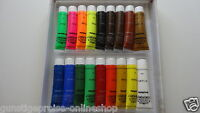 """18tlg.Acrylfarben-Set je 36ml""""Stoff für dein Werk""""auf Leinwand,Papier,Holz,Metal"""