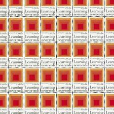 """Josef Albers """"Homage to the Square"""" - Vintage Mint Sheet of Stamps 40 Years Old!"""