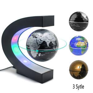 Magnetic Levitation Globe LED Colorful Lamp Plastic Matte Black Gold/Silver/Blue