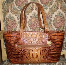BRAHMIN HANDBAG TOTE/SHOULDER/SATCHEL TOASTED ALMOND COLLECTION  CROCO LEATHER
