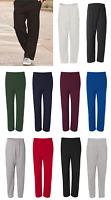 JERZEES 974MPR NuBlend Open Bottom Sweatpants with Pockets Size S-3XL