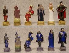 "Chess Set Pieces Medieval Europe King Arthur vs Mordred NIB 3 1/4"" Kings"