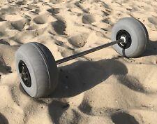 Kayak Cart Heavy Duty Beach Wheels 9 inch 30 to 34 inch Axle kit