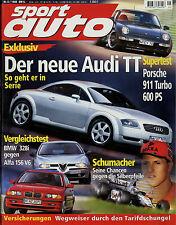 sport auto 5/98 1998 Audi A3 TT BMW 328i Alfa 156 2.5 Kelleners 323ti Lotec 911