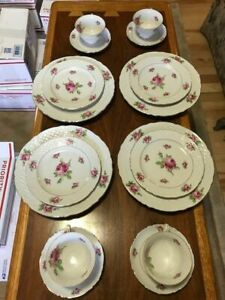 Vintage/fine China Schumann Arzberg Germany Bavaria - Set of 4 - Rose pattern
