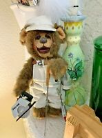 "10.5"" Linda Ashcraft 1990 Jointed Teddy Bear Handyman w/ Tool Accessories #3"