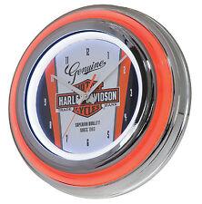 Harley Davidson Neon Uhr beleuchted im American Diner Stil *HDL-16636*