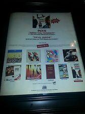 INXS Kick Devil Inside Rare Original Promo Poster Ad Framed!